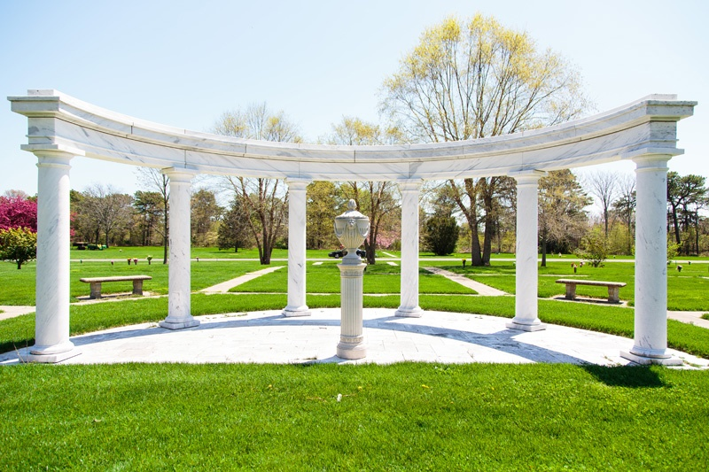 Arc of Serenity Open in Pinelawn Memorial Park And Arboretum
