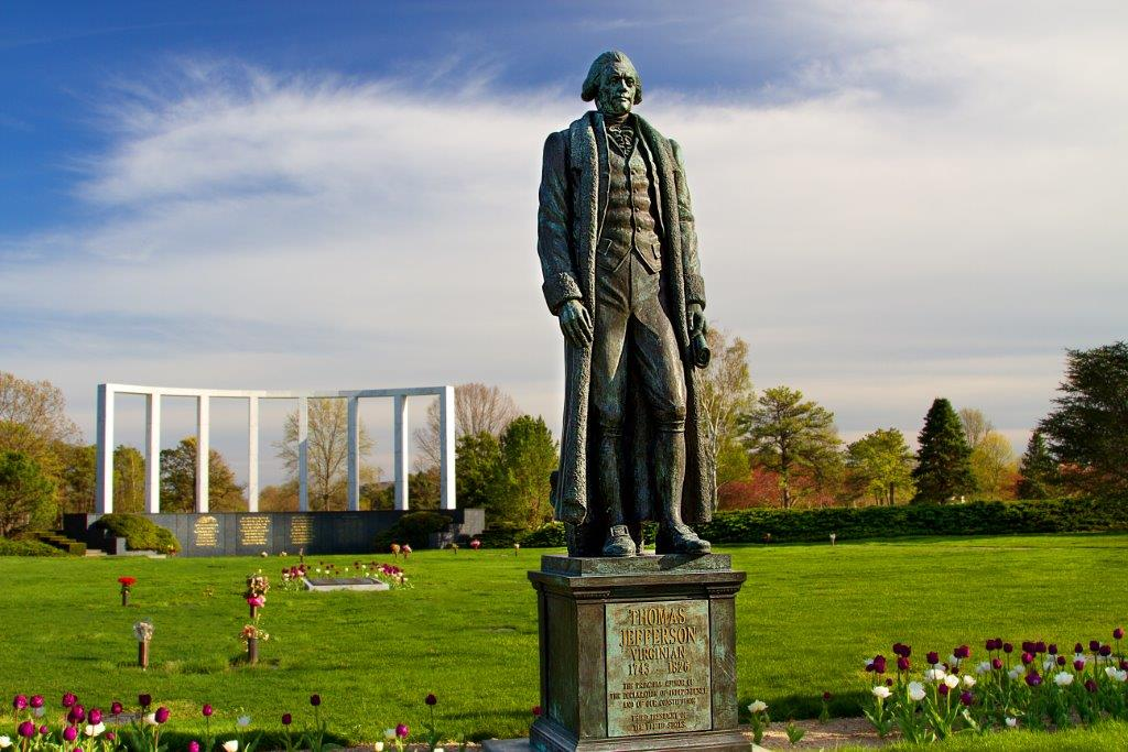 Garden of Freedom Jefferson Statue