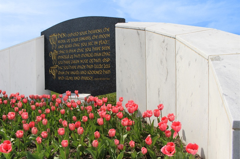 Garden of Psalms with Tulips at Pinelawn Cemetery