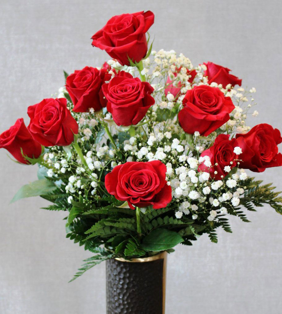 Red Rose – Forever In Our Hearts Bouquet