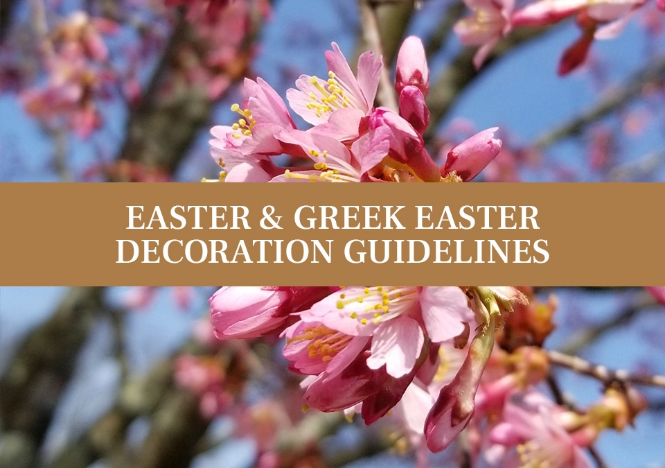 easter and greek easter decoration guidelines
